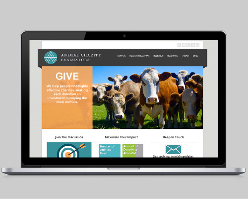 Web and Graphic Design - Animal Charity Evaluators