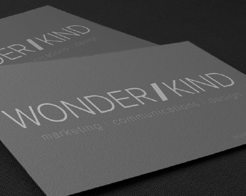 Branding and Print Design - Wonderkind Design