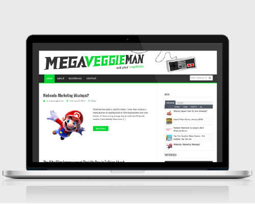 Web and Graphic Design - MegaVeggieMan